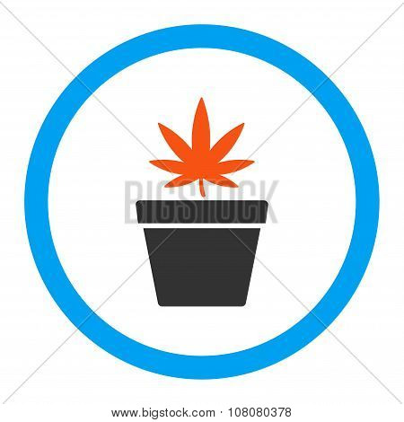 Cannabis Pot Rounded Glyph Icon