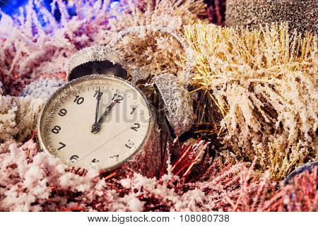 Clock in Christmas decoration