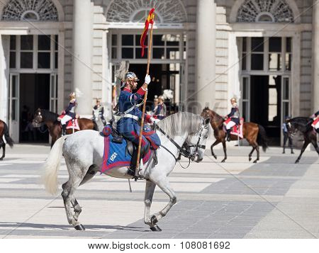Horseback Riders At The Royal Palace