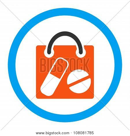 Drugs Shopping Bag Rounded Glyph Icon
