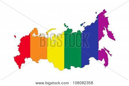 Russia Gay Map