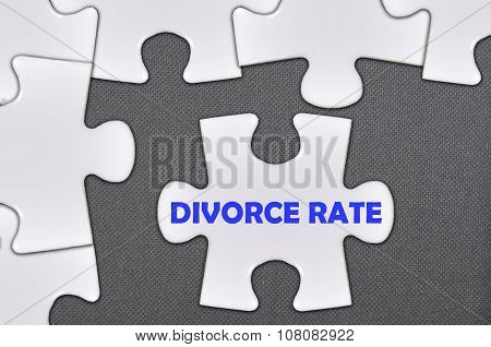 The White Jigsaw Puzzle Written Word Divorce Rate