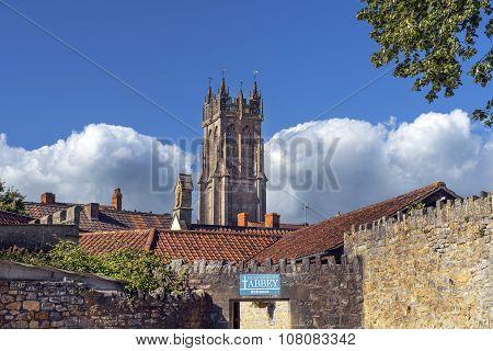 Glastonbury Abbey And Church Of St John The Baptist, Somerset, England