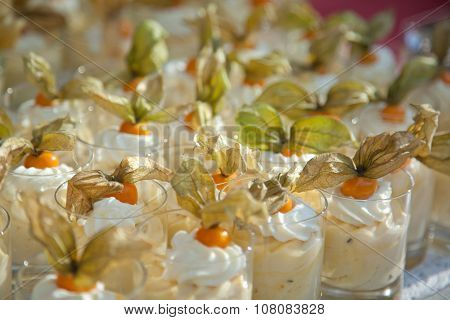 Dessert With Physalis