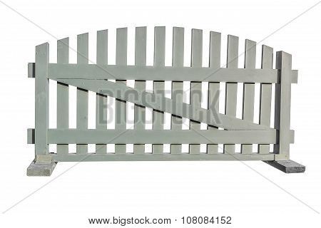 Fence With Planks Isolated On White Background