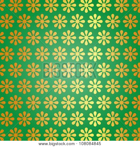 Flower abstract vector swirl leaf background green yellow blue organic.