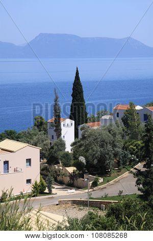 Village On The Island Of Lefkada.