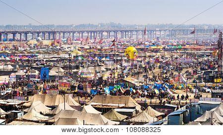 General View Of Kumbh Mela Festival In Allahabad, India