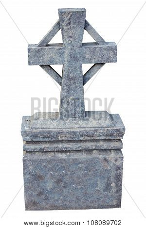 Gravestone Isolate On White Background