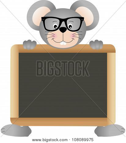 Mouse teacher with school board