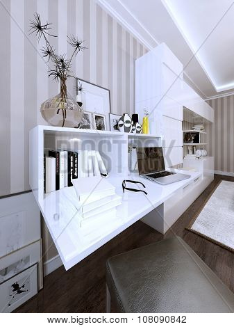 Wall Storage And Bookcase Modern Style