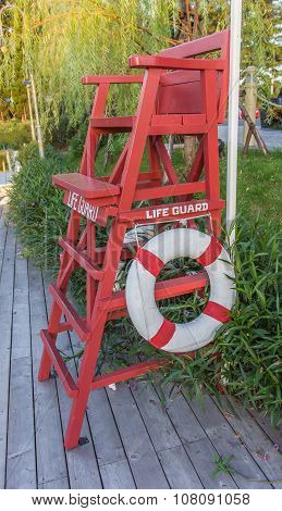 Life Guard Tower On The Swimming Pool