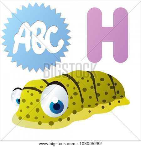 vector funny comic animal alphabet: H is for Holothuria