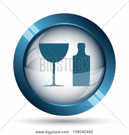 Bottle And Glass Icon