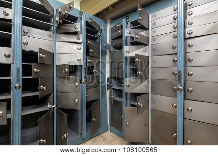 Cells In An Old Safe Bank.
