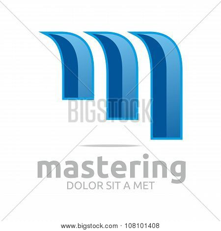 Design Element Logo Abstrac Vector lettering m