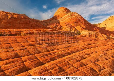 Sandstone formations in Utah, USA.Yant flat.