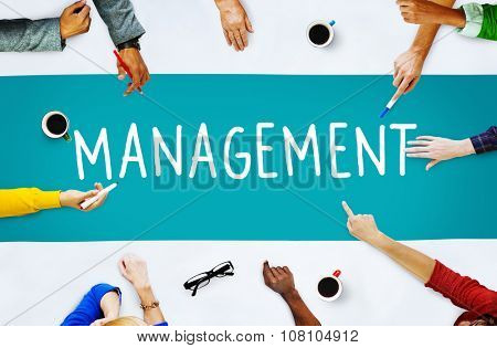 Management Organization Director Managing Customize Concept