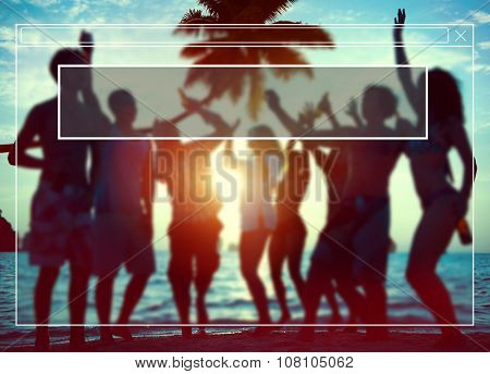 Website Webpage Silhouettes Diverse Multiethnic Concept