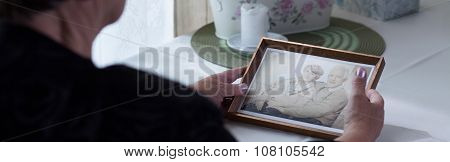 Picture Of Elderly Widow