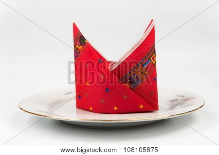 Beautifully Put Napkin For Festive Table Layout