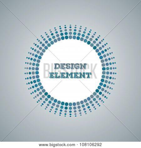 Abstract Halftone Dot Design Element Vector Circlee banner