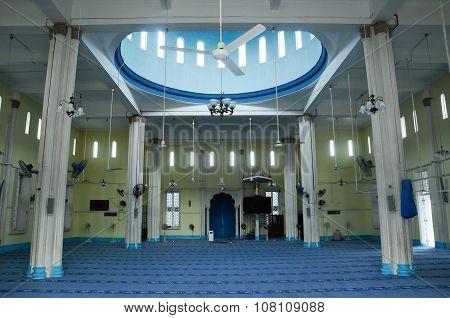 Interior of Mersing Jamek Town Mosque