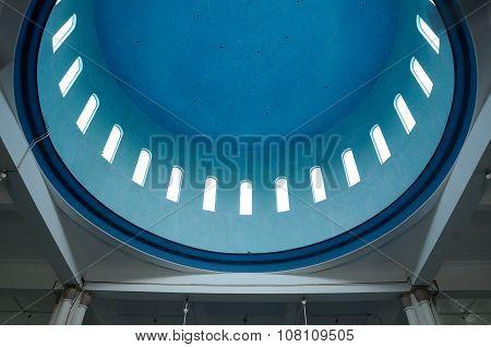 Inside dome of Mersing Jamek Town Mosque