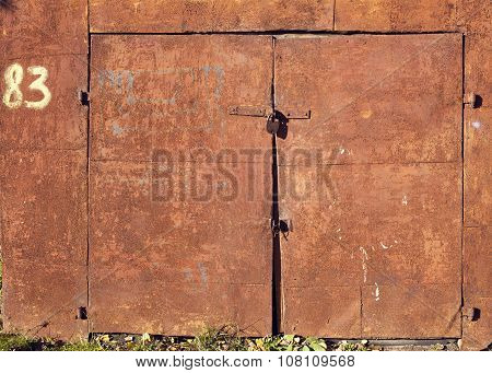 Weathered Rusty Doors