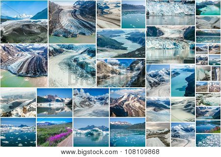 Alaska Glaciers collage