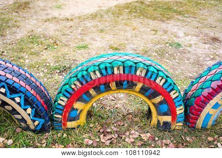 Beautiful Colors On The Tires