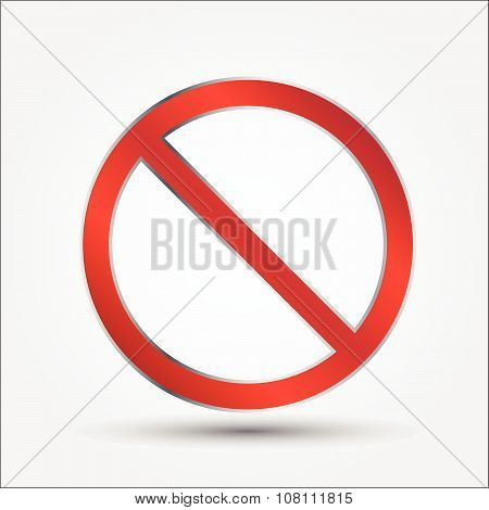 Prohibition Signs, Illustration Vector