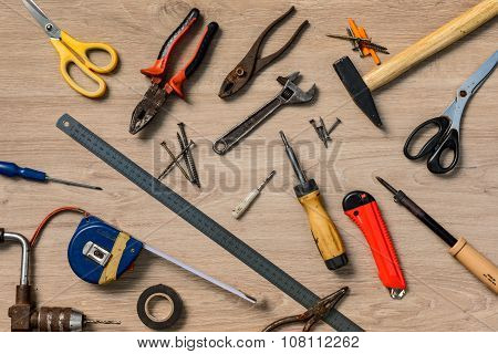 Scattered Home tools