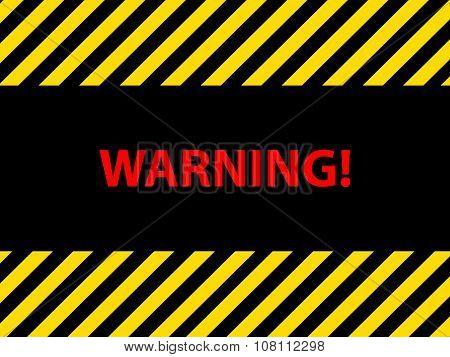 Warning Dangerous Sign, Illustration Vector