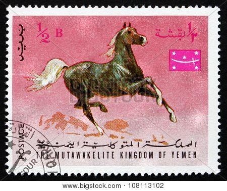 Postage Stamp Yemen 1967 Arabian Horse