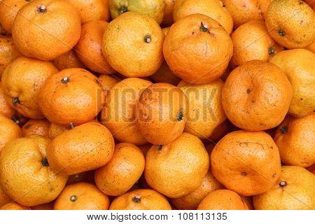 Fresh Mandarin Oranges On Market