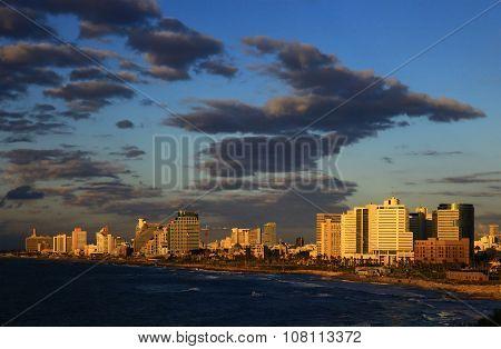 Tel Aviv, Israel. Sunset.