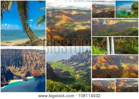 Kauai landscapes collage