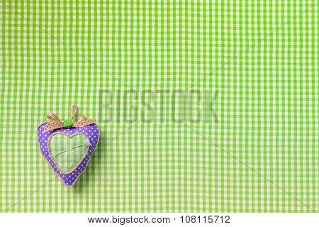 Pincushion on textile