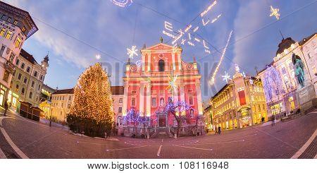 Preseren's square, Ljubljana, Slovenia, Europe.