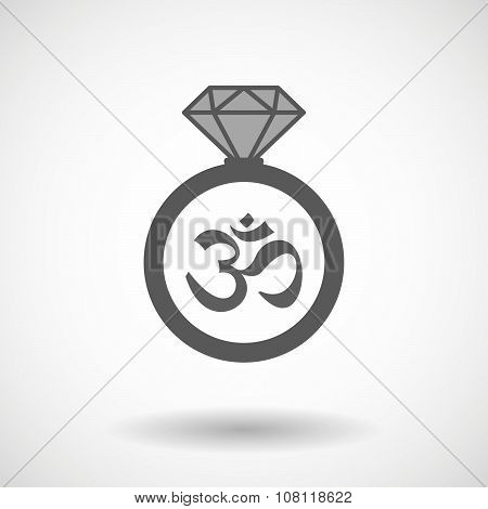 Vector Ring Icon With An Om Sign