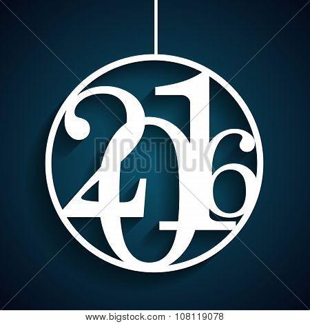 Christmas 2016 Alphabet Number Vector Illustration