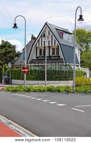 Modern Beautiful House On Haarlemmerstraat Street  In Zandvoort, The Netherlands