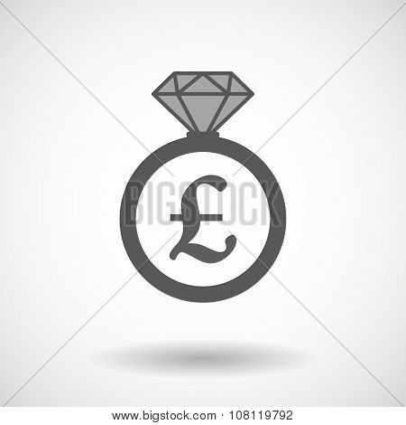 Isolated Vector Ring Icon With A Pound Sign