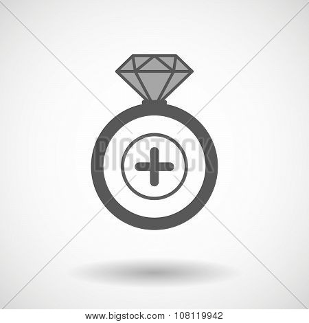 Isolated Vector Ring Icon With A Sum Sign
