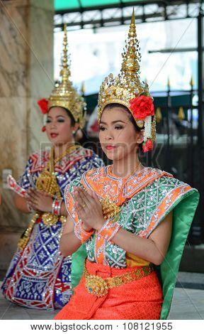 Thai Women Dressed As Goddess