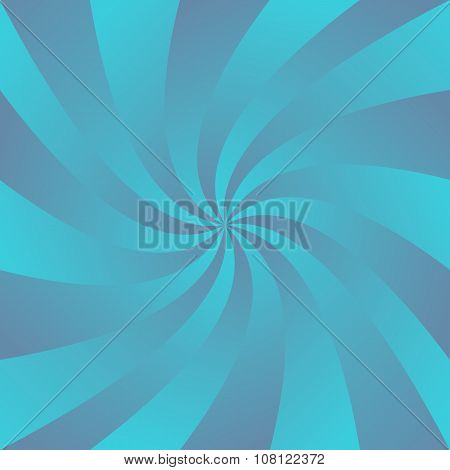 Blue curved ray design background