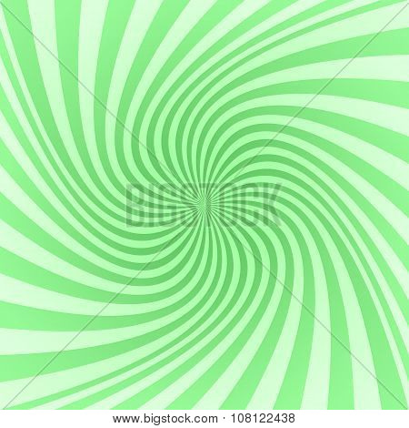 Green spiral pattern background