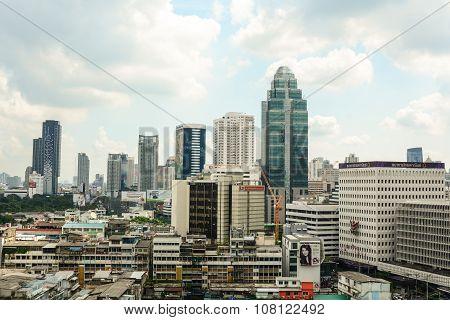 Cityscape Of Bangkok In Sunny Day