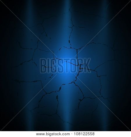 Dark Blue Grunge Background With Light Vector Eps10